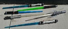 Assorted Star Wars light laser swords