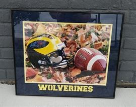 Large Michigan framed picture....