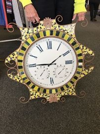 Large Tiled Outdoor Clock