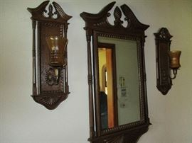 MIRROR AND SCONCES