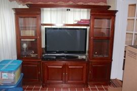 Media Center and Flat Screen TV