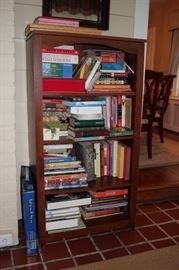 Standing Wood Shelves, Books and Games
