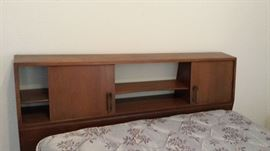 Mid-century modern head board for double bed.