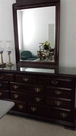 Formal Kincaid dresser with mirror.