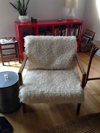 same vintage chair with cover on