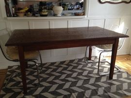 beautiful antique dining table seats 6 (originally purchased from Assemblage in downtown Seattle)