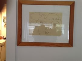 Framed Picasso reproduction