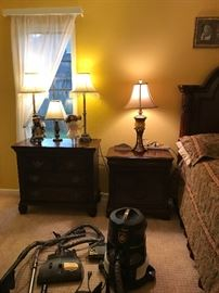 Rainbow Vacuum with all attachments for vacuuming, mopping & air cleaning.  Paid $1,500 for it when it was new.  There is a nightstand with a pull out for writing, and another Chest Type Chest of Drawer night stand & lamps & dolls.  One doll is Anne of Green Gables