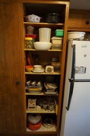 All manner of kitchen storage and appliances