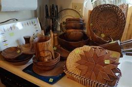 Mid century teak and wood