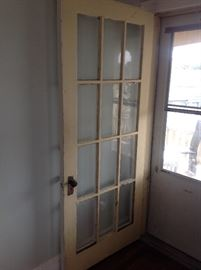 can be used for pocket doors also. great glass paneled door