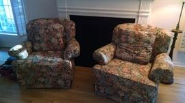 **ELEGANT FLORAL SIDE CHAIRS
