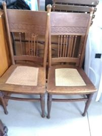 Cane seat chairs