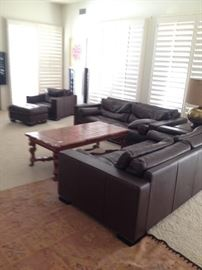 Roche Bobois leather brown Sofas, $ 2500 each
