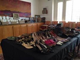 Many Designer shoes, size 6 to 9, 3 sisters