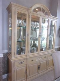 Bernhardt lighted china cabinet.