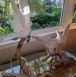 Boehm Doves with Cherry Blossoms