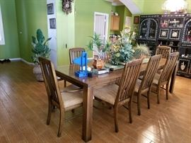 Dining Table + 8 chairs