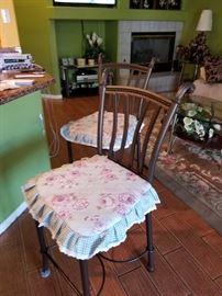 (4) Metal bar stools