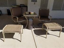 Matching bistro set + stools