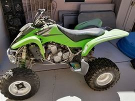 Kawasaki KFX 400 Quad. Available for preview and prebuy.