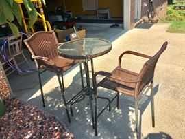 3-Piece Wicker Patio Set