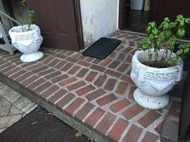 Antique Grecian urn planters