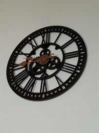 Steam Punk Gear Clock - very large - great accent piece.