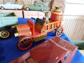 Vintage Friction firetruck