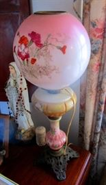 Victorian oil lamp converted over to electric