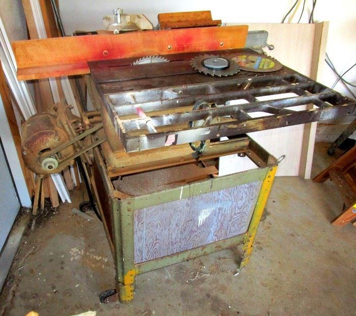 Big cast iron bench saw by Craftsman