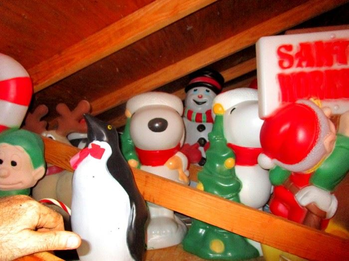 Attic full of holiday blows