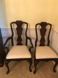 Henredon 18th Century Portfolio dining chairs-2 arm and 6 side chairs