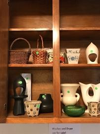 Mid Century pottery and planters