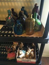 Vintage Glass Bottles and Banks