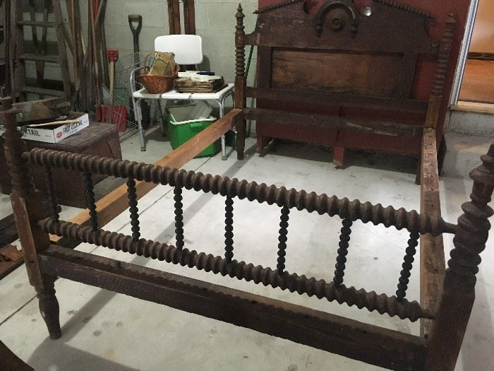 Antique Twin Spindle Bed Frame