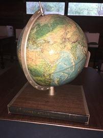 1966 Globe With Atlas