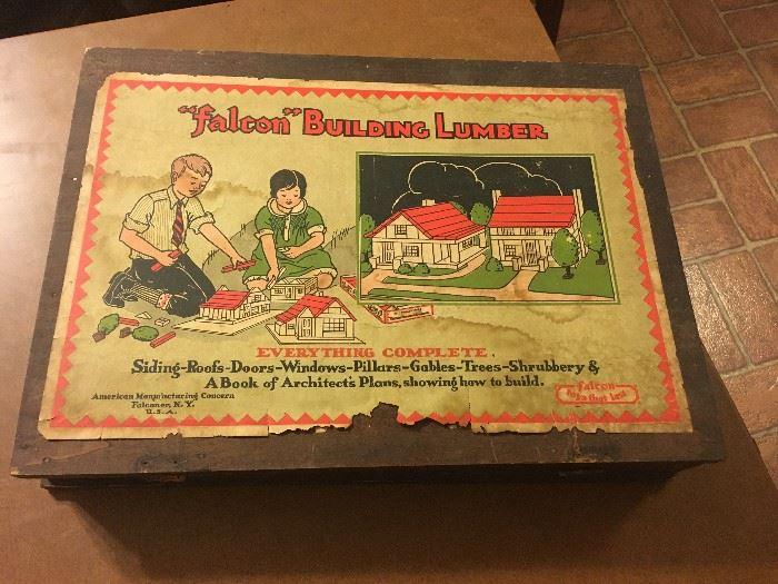 "Vintage ""falcon"" Building Lumber Set"