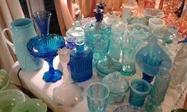 Depression, Decco,  Fenton, Carnival Glass