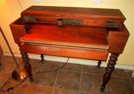 Solid Mahogany Spinet Desk