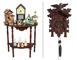 Bird houses and German Cockoo Clock