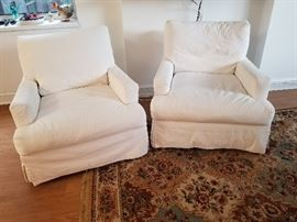 Crate & Barrel slipcover chairs (2 available)