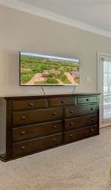 dresser and TV