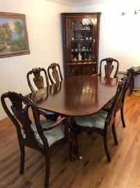 """ Councill Craftsman"" Mahogany  Dining Table - eBay: $1200,  6 Chairs - eBay:$1200,   now: $600 for Both"