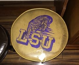 Vintage LSU Foot stool