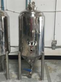 2 Brewers Hardware 42 Gallon Stainless Steel Glycol Jacketed Conical Fermenter