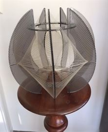 Mid-century modern lucite & acrylic string sculpture. Very good condition.