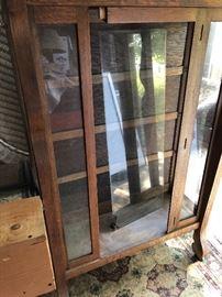 Oak antique cabinet