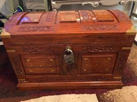 Custom wood chest