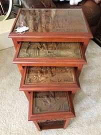 Set of 4 nesting tables